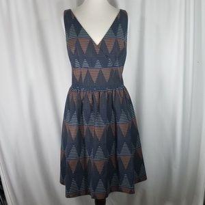 Halogen Size 16 Diamond Print Jaquard Dresss
